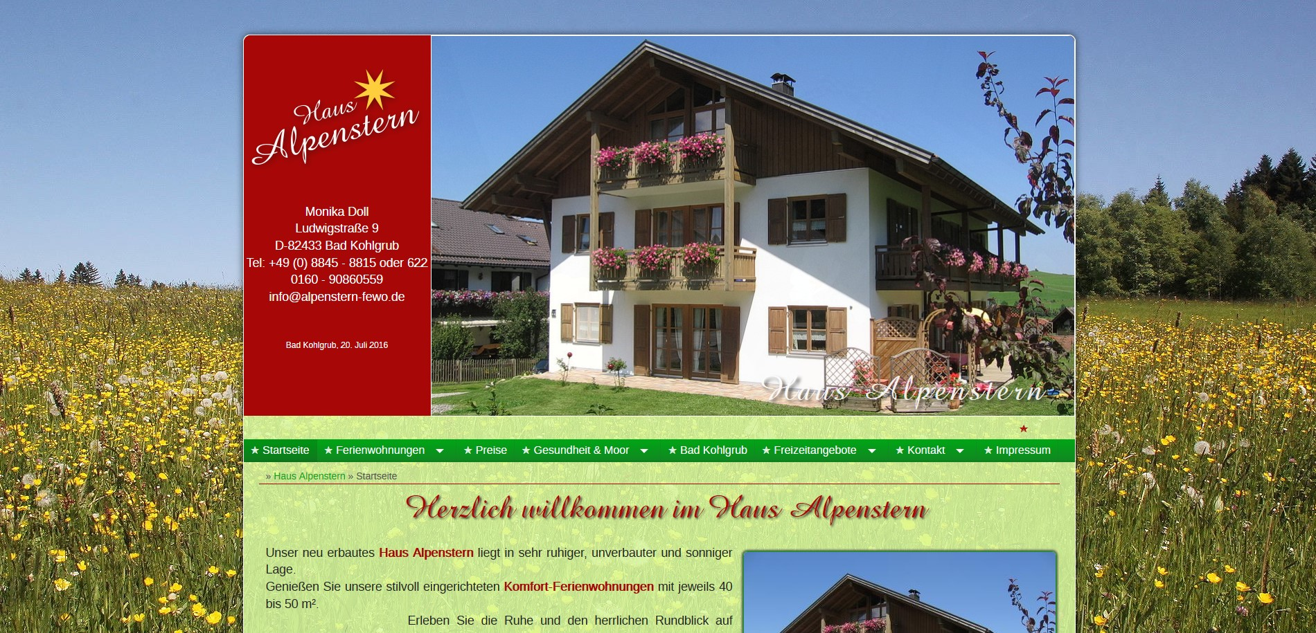 Haus Alpenstern in Bad Kohlgrub