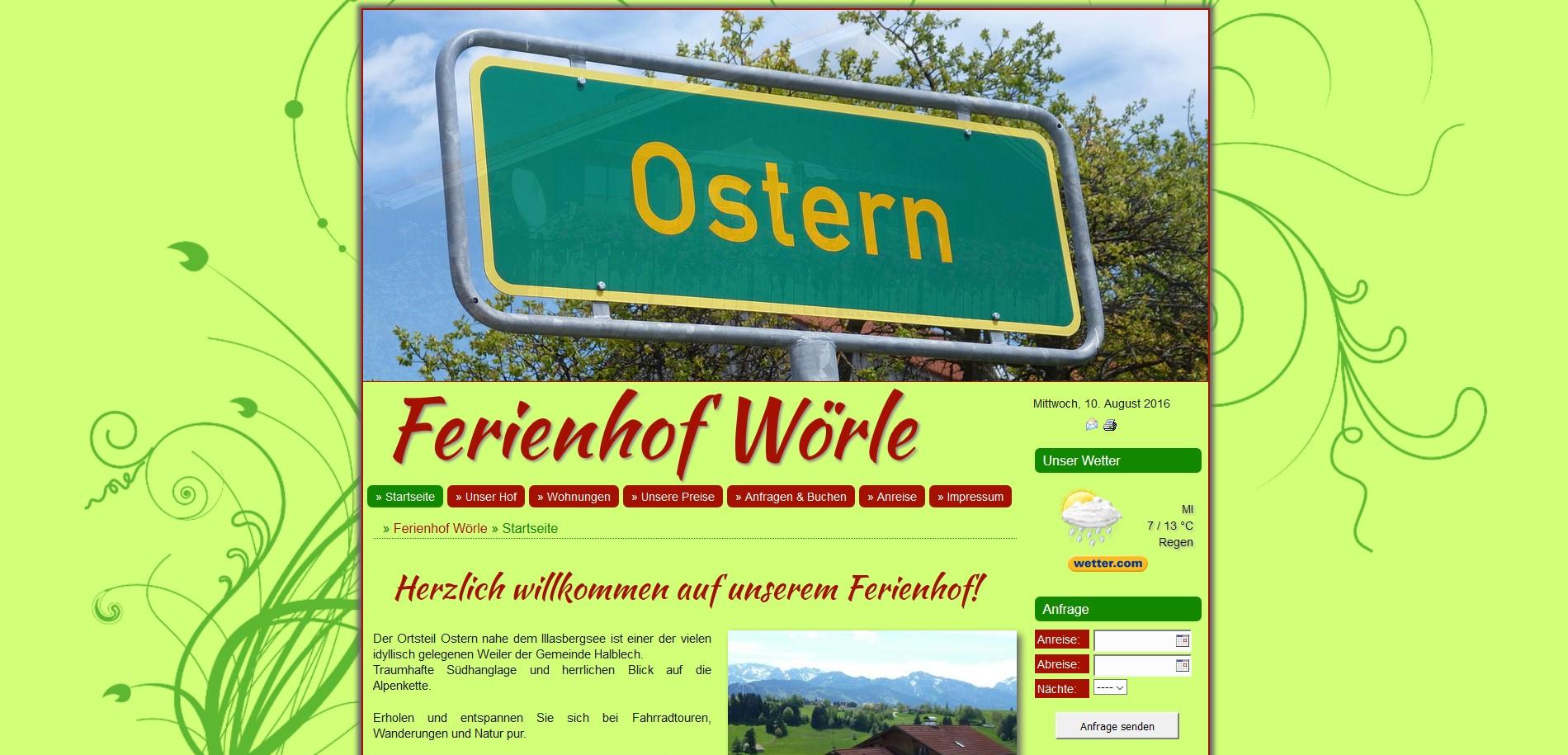 Ferienhof Wörle, Halblech
