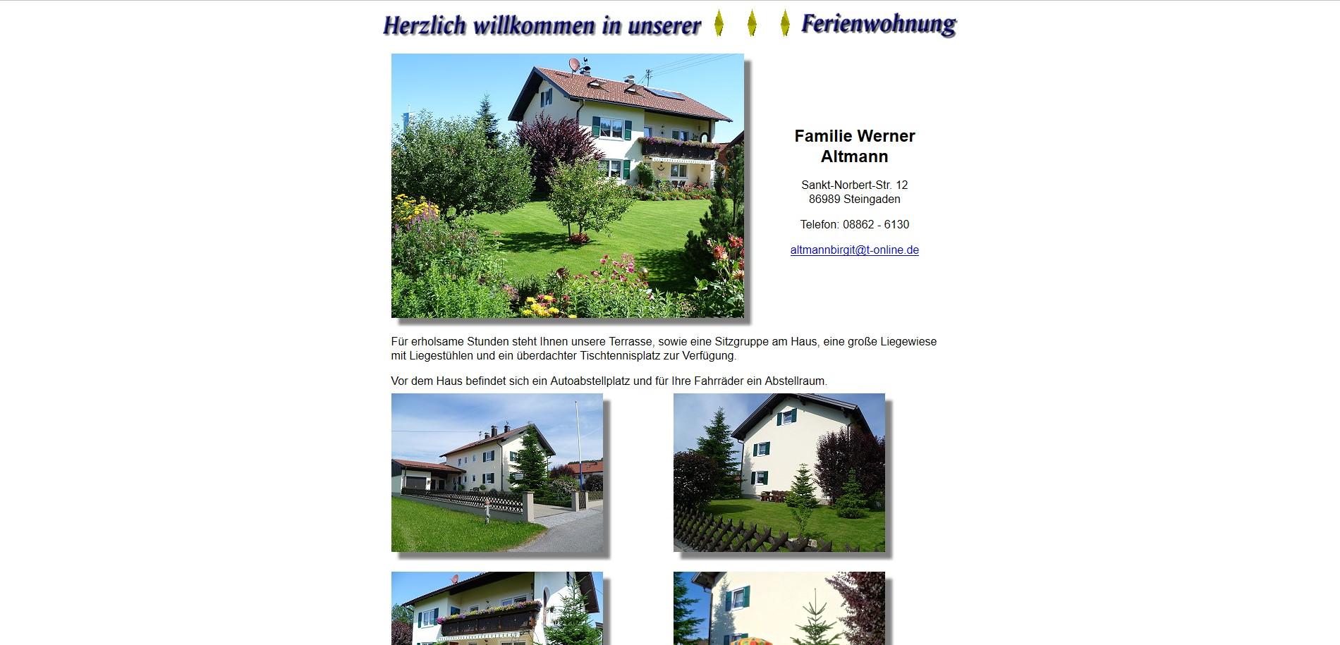 Ferienwohnung Altmann, Steingaden