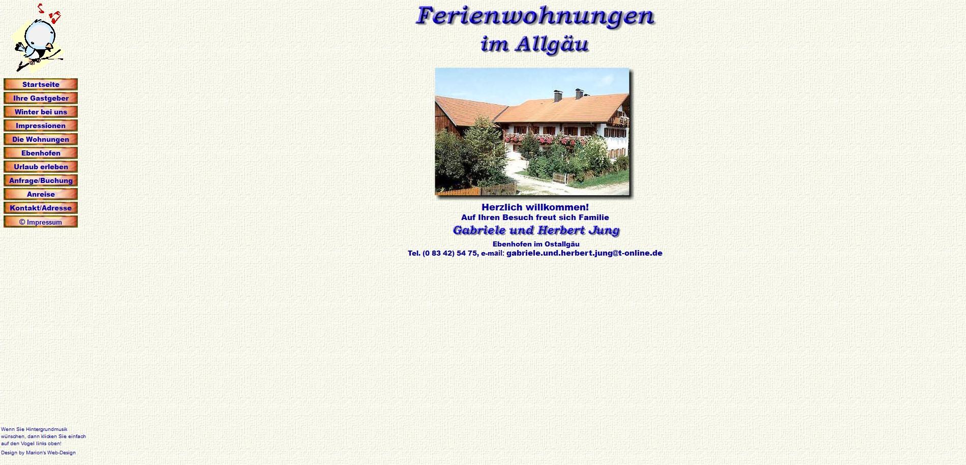 Gabriele Jung, Ebenhofen