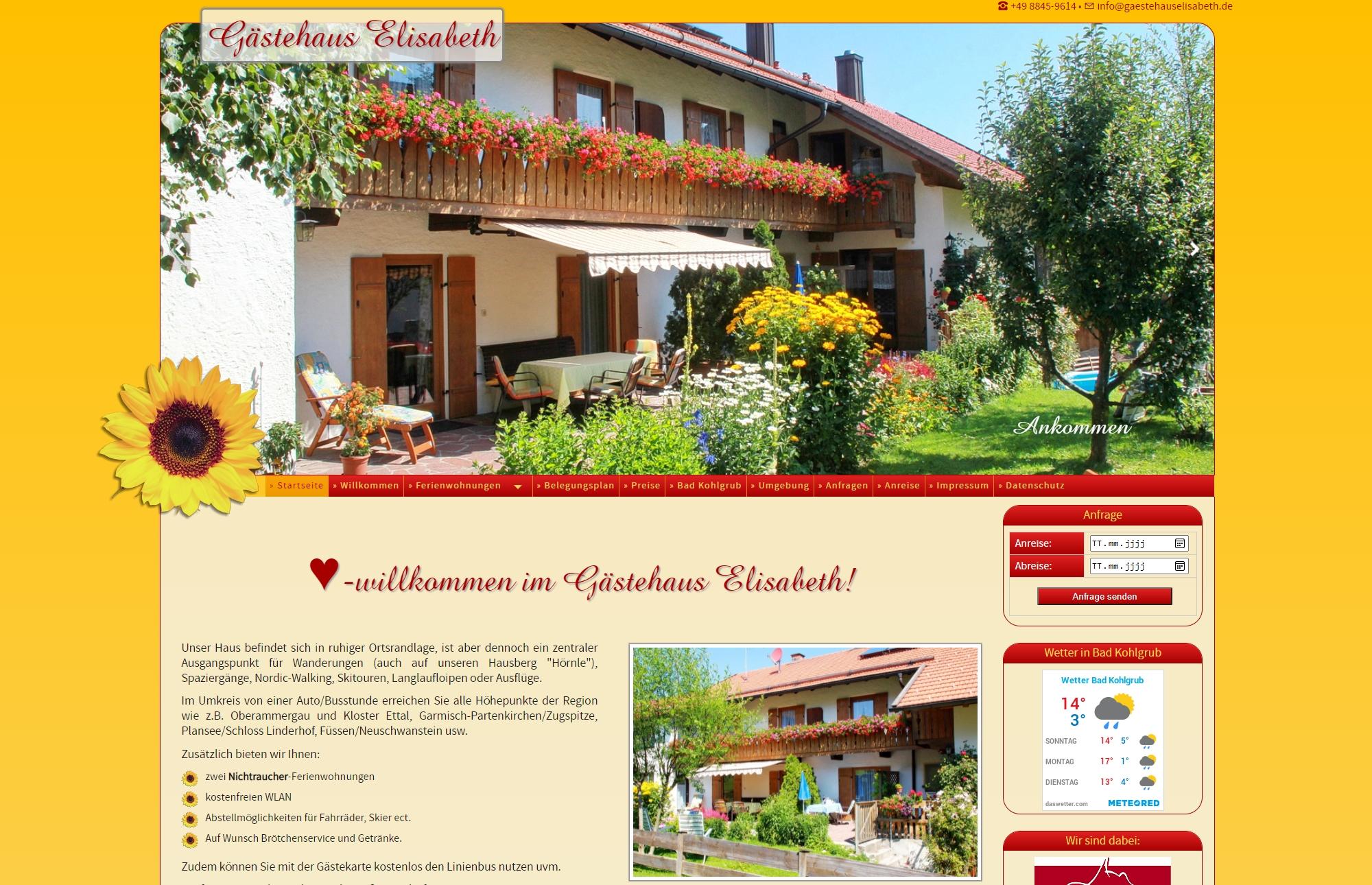 Gästehaus Elisabeth, Bad Kohlgrub