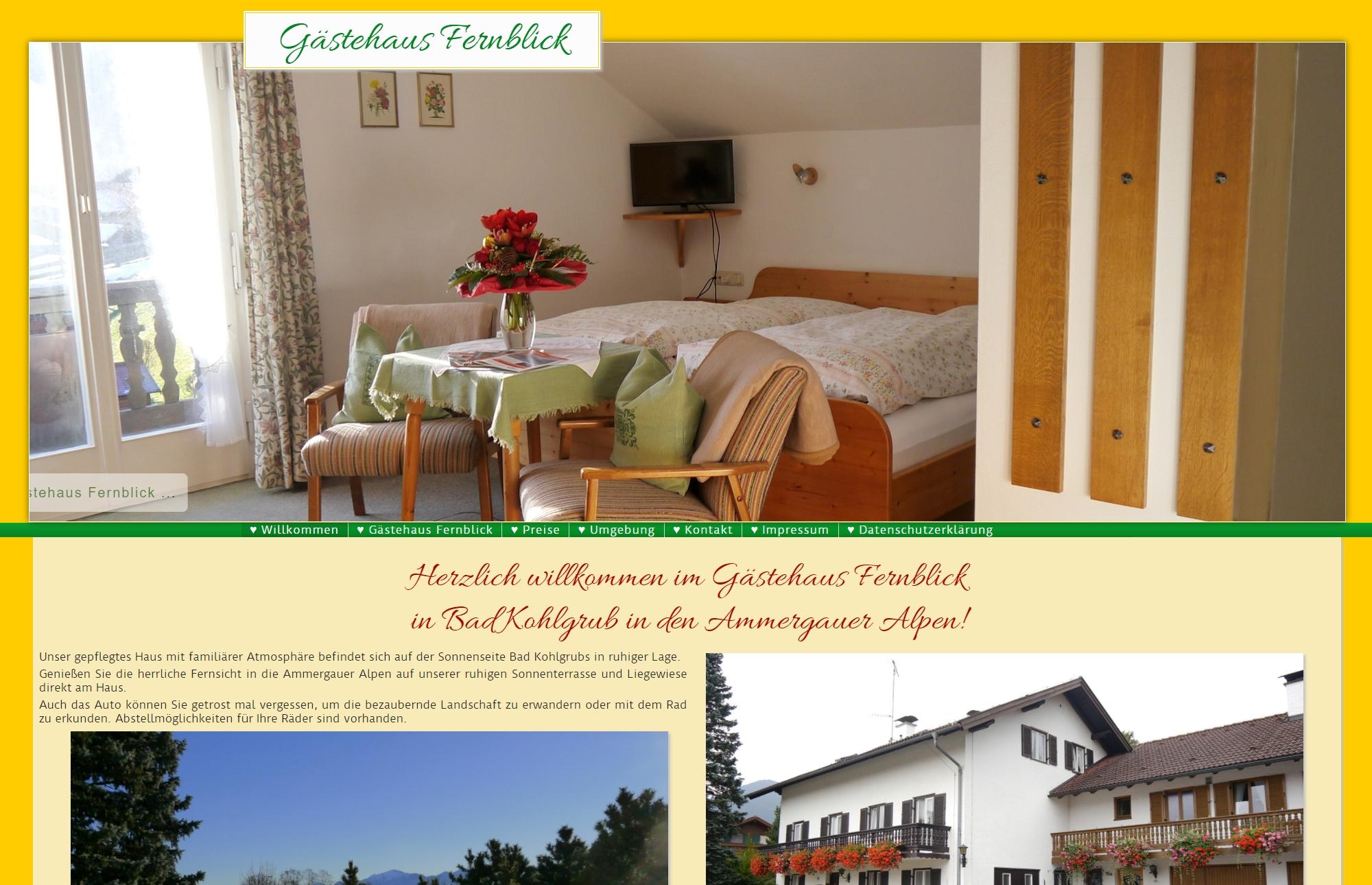 Gästehaus Fernblick, Bad Kohlgrub