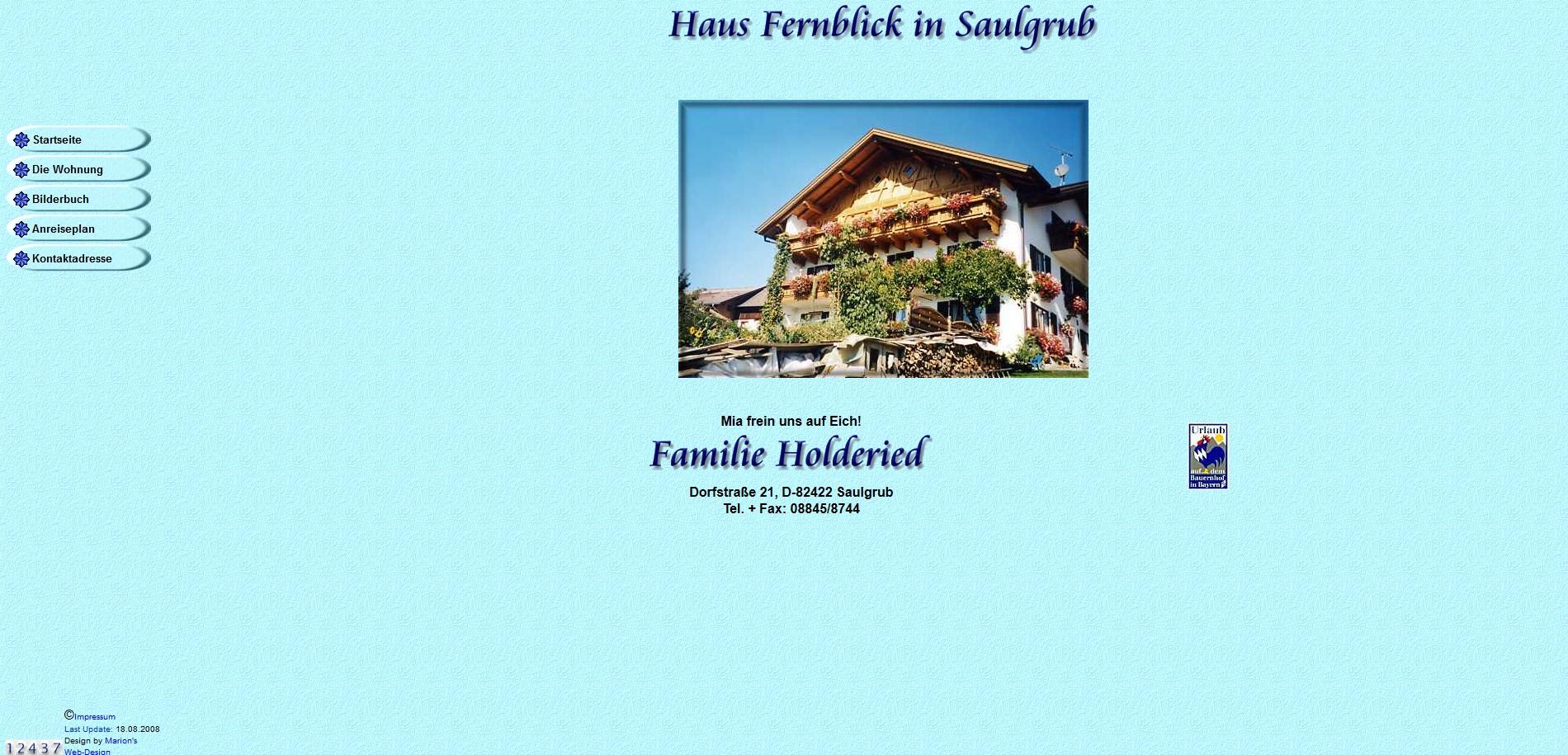 Haus Fernblick, Saulgrub