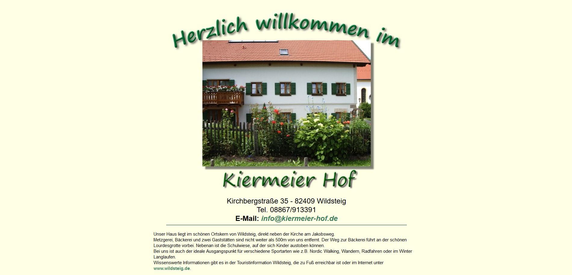 Kiermeierhof, Wildsteig