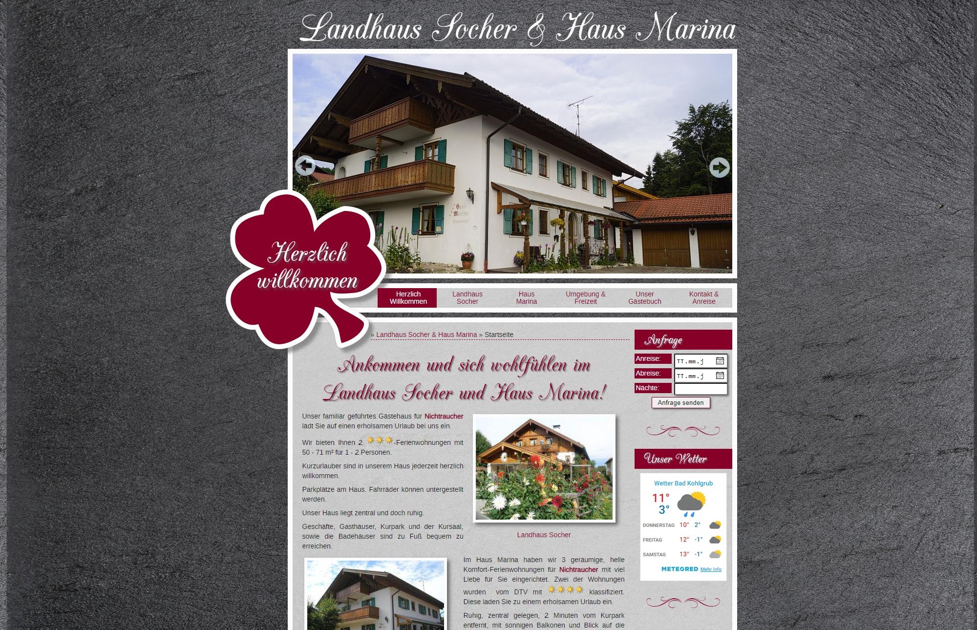 Landhaus Socher und Haus Marina, Bad Kohlgrub