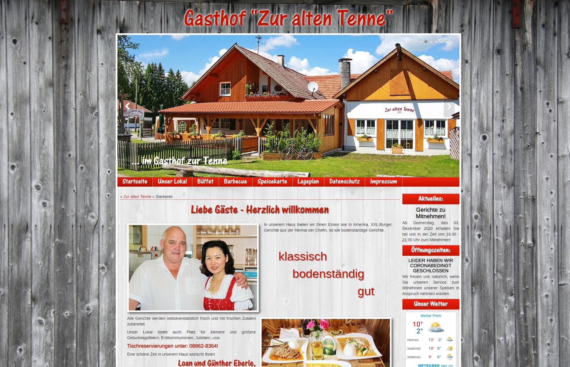 Gasthof Zur Alten Tenne in Prem
